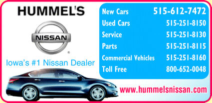 Hummel's Nissan is a Sponsor!