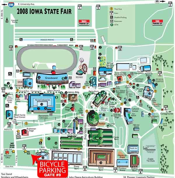 Iowa State Fair Map ~ AFP CV