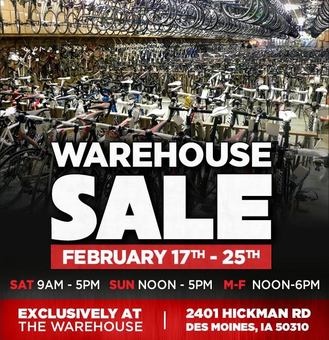 Bike World Warehouse Sale 2018