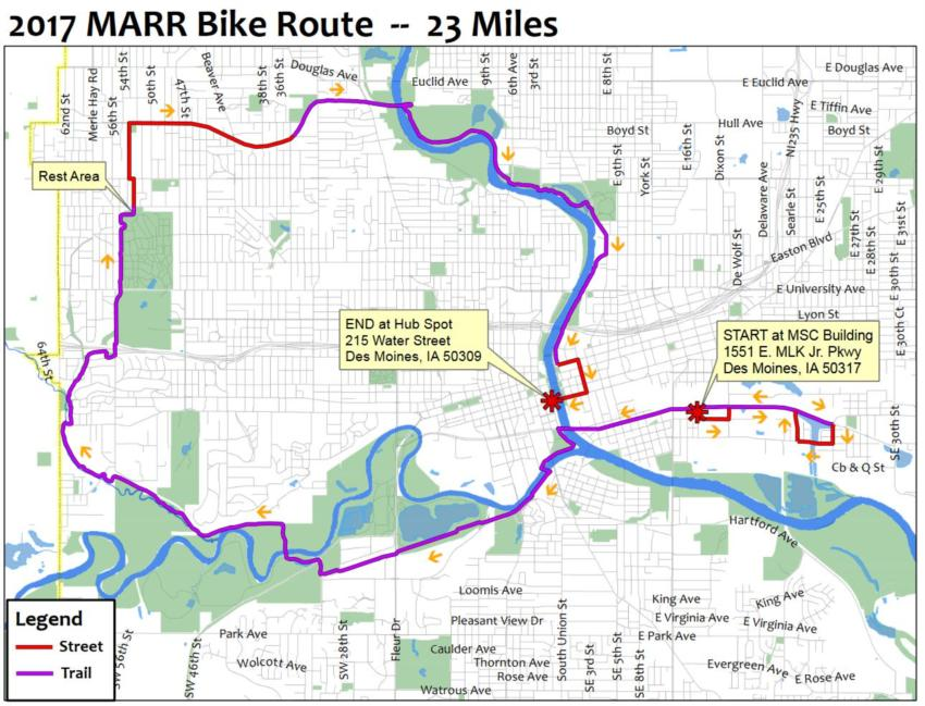 Des Moines Mayor's Annual Ride and Run for Trails on