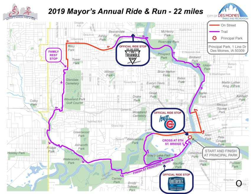 Des Moines Mayor's Annual Ride and Run for Trails