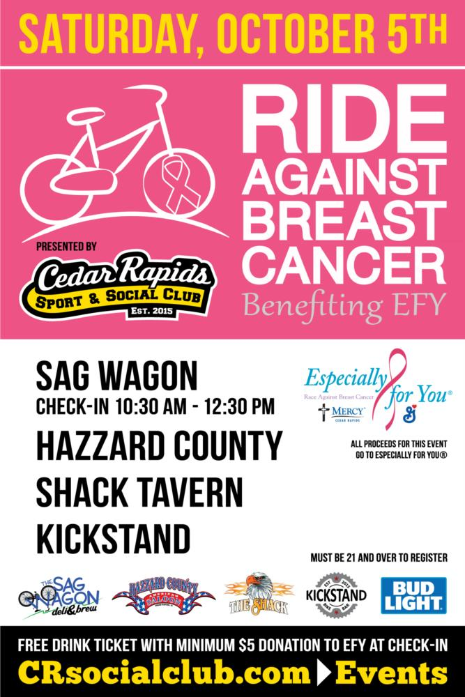 Ride Against Breast Cancer Benefiting EFY